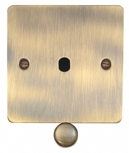 G&H FAB11-PK Flat Plate Antique Bronze 1 Gang Dimmer Plate Only inc Dimmer Knobs